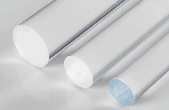 barra de plexiglas transparente