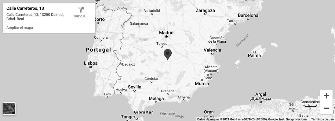 mapa akrylius
