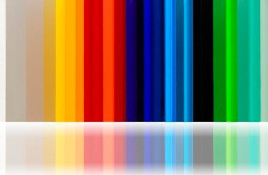 placas de metacrilato a color
