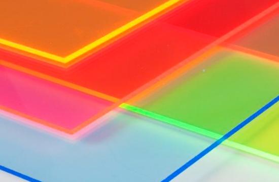plancha metacrilato fluorescente
